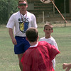 Date:   6/17/98---James Wright works with kids  at the LeTourneau University soccer camp Wednesday morning in Longview. Kevin green