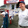 Date:   6/4/98---Ann, left, and Matt Hanley, right, co-owners of Brian & Scott's sno balls and more with two locations in lOngivew. Kevin green