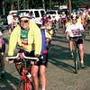 Cyclists of the Texas Chainring Challege 500 mile bike ride depart Longview High School Sunday Morning. Obie LeBlanc.