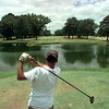 Date:   6/26/98---Chris Palmer tees off of the tenth hole Friday afternoon at Alpine Golf Course in Longview. kevin green