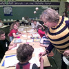 Date:   3/26/98---Jana Kuykendall, dressed as bee, the librarian at Spring Hill Elementery, dressed as a bee to promote perfect attendence and went to class rooms buzzing and saying be cool come to school Thursday afternoon in Longview. Kevin green