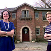Date:   3/26/98--Julie Duke, left, and Laurie Gillespie, right, co-owners of this bed and breakfast that is played to open in July on Methvin Thursday morning in Longview. Kevin green