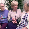 Left to Right---Claudine French, Jan Delorme, and Inez Branch, visit at the Windsor Place Nursing Center, in Daingerfield, where Jan DeLorme was named the pro-life person of the year. Kevin green