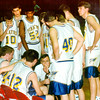 Rick Flanagan talks with team during playoffs in Van. Courtesy Photo
