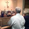 05/14/98--Sonny Mier, left, and Sandy Mayeaux worship at St. Mary's new Perpetual Adoration Chapel Wednesday evening. Matula photo.