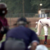 Date:   5/21/98---White Oak pitcher #15 pitches during Thursday night's game against Atlanta in Hallsville. kevin green