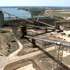 Date:   4/30/98--- The power plants coal yard from 12 stories high. Kevin green
