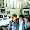 05/06/98--Bobby Price and his mother-in-law Marian Burkett in the entrance to their auto serive Triangle Auto Service in Daingerfield. After the death of her husband, Marian needed some security and Bobby needed help with his business and a blooming friendship developed. Matula photo.
