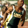 slug 1 Byrdsong, Waco Tribune Herald, Rod aydelotte<br />   Longvies first leg of the boys 4X100 Shawn Byrdsong comes out of the blocks at the Region 2 5A meet inWaco Texas