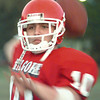 Date:   11/11/98---Kilgore High School quarterback Kyle Ferro throws during practice. bahram mark sobhani