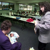 11/11/98---Kathy Pettiford, senior child immunization specialist, right, plays the role of a volunteer as she tells a new mom about the importance of immunizations during a role play Wednesday at a training seminar for the SVCI program. The seminar, which was held at Diagnostic Clinic, is the initial training for the Seniors/Volunteers for Childhood Immunizations for area hospitals. Longview Regional Hospital will begin the program Monday.