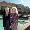 11/10/98---Homewood Suites on Spur 63 in Longview will offer extended stay hotel accomodations. General Manager Sharon Payne, left, and assistant G.M. Nancy Schoolfield stand near the pool at the rear of the building. bahram mark sobhani