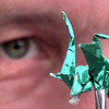 Date:   11/5/98---One of the smallest Origami pieces. Kevin green