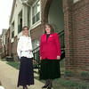 Date:   11/24/98---Stone Bridge Apt. leasing consultant Stefanie Cox, left, and property mgr. Sarah Sellers, outside some of the apartments this past week in lOngview. Kevin Green
