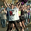 Date:   10/1/98---Hallsville High School drill team practices. Kevin green