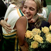 10/02/98---Newly crowned Longview High School homecoming queen Jennifer Smith gets a hug from a cheerleader before Friday's football game. bahram mark sobhani