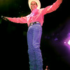 Date:   10/3/98---Neal McCoy performs for the crowd during Saturday night's concert at LHS in Longivew. Kevin green