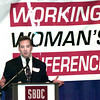Date:   10/21/98---SBDC director Brad Bunt speaks to a group during the Working Woman's Conference Wednesday afternoon at Maude Cobb in Longview. Kevin green