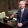 Date:   10/8/98---Harmony ISD new Super Ray Miller in his office. Kevin green