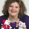 10/30/98---Genia Capps will auction and raffle Beanie Babies to help raise money for Maddie Durst, a seven-month old baby who needs a liver transplant. bahram mark sobhani