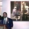 Date:   10/15/98---John Paul Batiste ex dir. of Texas Comission on the arts speaks Thursday morning at the Longview Museum of Fine Arts in downtown Longview. kevin green