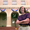 Date:   10/6/98---Amy Dean ex director for the Upshur County Economic Development board out in front of the courthouse in Gilmer. Kevin green