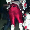 9/11/98---Longview defender (29) wrestles down a Lake highlands runner.