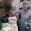 9/03/98---Jane Brewton stirs a vegetarian dish made with tofu in her kitchen. bahram mark sobhani