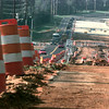 Date:   9/24/98---Traffic moves along the two open lanes of Judson Rd. north of Loop 281. Drivers will enjoy an early completion of the construction, with lanes scheduled to open in November. bahram mark sobhani