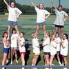 Date:   9/30/98---Pine Tree varsity cheerleaders practice Wednesday afternoon at PTHS in Longview. KEvin green