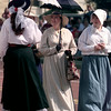 9/26/98---Women in Old West garb walk along Fredonia Street during Dalton Days. The group was part of a reenactment of the infamous robbery of the First National Bank of Longview. bahram mark sobhani