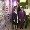 9/23/98---Local American Heart Association officers stand next to a display in the lobby of the Longview library. From left are Jean Reeves, chair-elect; Ron Radulescu, treasurer; Betty Horaney, secretary; and Paul Boorman, chairman. The display, which showcases 50 years of the association, will be up through Oct. 14. bahram mark sobhani