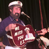 8/21/99---Tugboat Jerry shows off his painted guitar honoring Ernest Tubbs during the Texas Country Music Hall of Fame Saturday night in Carthage. Kevin green