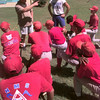 8/5/99---Henderson Dixie league team gets instruction fron the caching staff. Kevin green