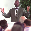 8/11/99---TX railroad comm. Michael Williams speaks during the LGv Partnership luncheon Wednesday afternon at Pinecrest CC in lGV. Kevin green