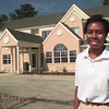 8/24/99---Microtel Inn asst. mgr. Lisa Myles, out in front of the newest location on Eastman Rd. in LGv. Kevin green