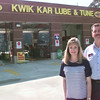 8/18/99---Karen and Kevin McCardell owners of the Kwik Kar Lube and Tune on Judson Rd. in LGV. Kevin green