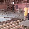 8/3/99--Patrice Woods, left, Mayor Wallace Reed, center, and Donna Scarborough, right, inside the building while work is being completed in Henderson. Kevin green