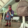 8/5/99---Chelsea Nelson, 4, models an outfit Thursday during a back-to-school fashion show at Longview Mall. The show was put on as part of a tax free holiday celebration. Students modeled clothing exempted from taxes this weekend. bahram mark sobhani