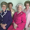 8/12/99---Longview Woman's Forum officers are, from left, Faynelle Youngblood, president; Dorothy Pliler, treasurer; Nita Snider, first vice president; and Kathleen Lutrick, fourth vice president. bahram mark sobhani