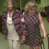 8/5/99---Longview adult activity center PR lady Teressa Collins helps client Virene Darden to a chair Thursday morning at the center in LGV. Kevin green
