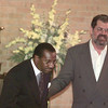8/18/99---Revival speaker the Rev. Dr. Elijah Stansell, left, is introduced to the Wesley McCabe United Methodist Church congregation by pastor Carl Lundberg before Stansell's sermon. bahram mark sobhan