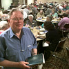 8/2/99---Dr. Chester O'Brien is the speaker during the revival at First Baptist Church in LGV. Kevin green