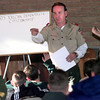12-29-99---Neil Quinn, of Longview, assistant scout master for troup 200 speaks during a class on demostrating citizenship during the boy scout camp Wendesday afternoon at Camp Pirtle. Kevin Green