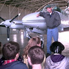 12-7-99---Shannon Selman, flight instructor at Stebbins Aviation, takes questions from studentsfrom Foster Middle School, during a tour of the Gregg County Aiport Tuesday afternoon in Lakeport. Several school districts are touring the airport. Kevin GReen