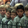 12/10/99--- Hallsville Pre-K students wait and watch for Santa. Several schools send classes to visit with Santa at Longview Mall during the day, creating a long line of children. bahram mark sobhani