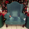 12/10/99---Marks where Santa sat are visible in his chair after a day of work. Three mall santas share the same chair, which sees hundreds of children visit per day. bahram mark sobhani