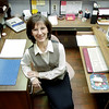 2/4/99---City of White Oak employee Sandra White at her office at City Hall. Kevin green