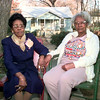 2/3/99---Northcutt Heights residents Sleetie King, left, and Eva Lee Jackson, right, on Sleetie's front lawn on N. Court St. in Longview. Kevin Green