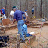 2/5/99---Volunteers help excavate part of the Timber Hill Caddo Indian site in Marion County Friday morning. Toni Moore